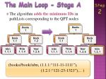 the main loop stage a1
