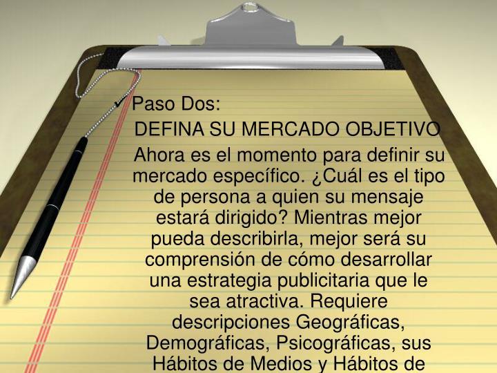 Paso Dos: