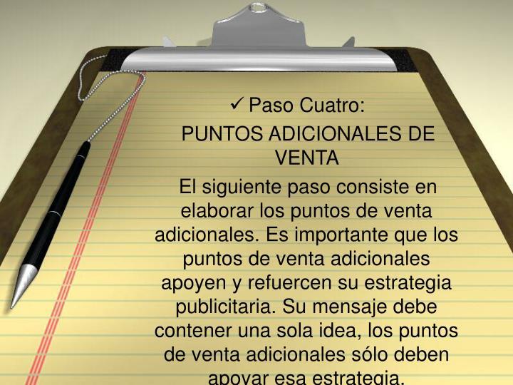 Paso Cuatro: