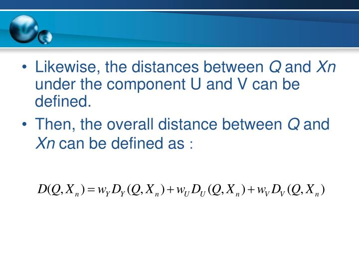 Likewise, the distances between