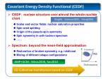 covariant energy density functional cedf