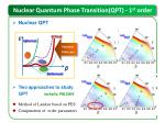 nuclear quantum phase transition qpt 1 st order