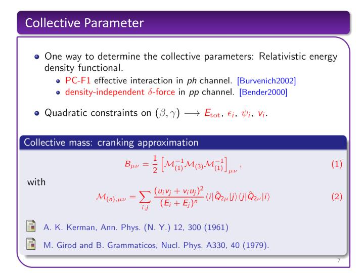 Collective Parameter