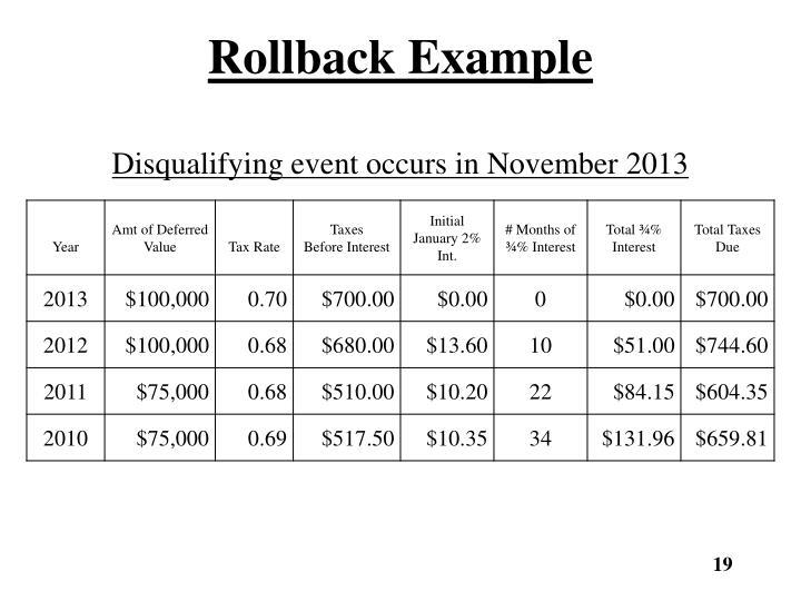 Rollback Example