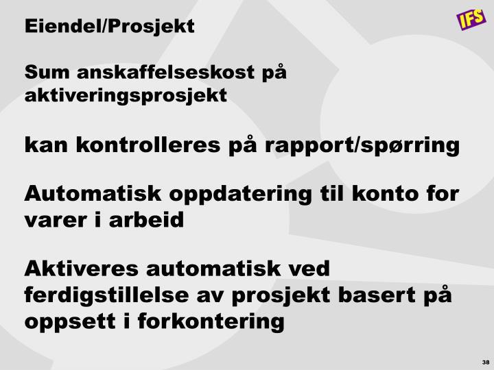 Eiendel/Prosjekt