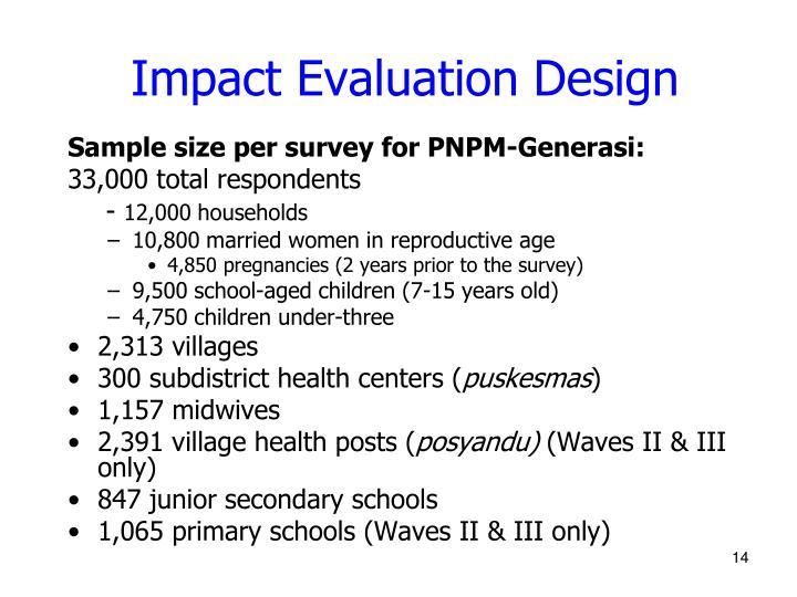 Impact Evaluation Design