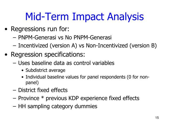 Mid-Term Impact Analysis