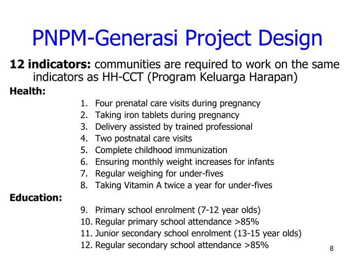 PNPM-Generasi Project Design
