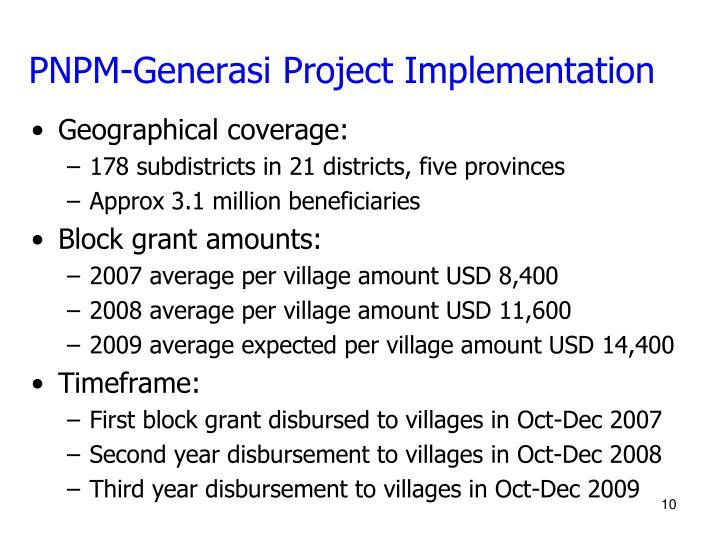 PNPM-Generasi Project Implementation