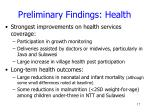 preliminary findings health