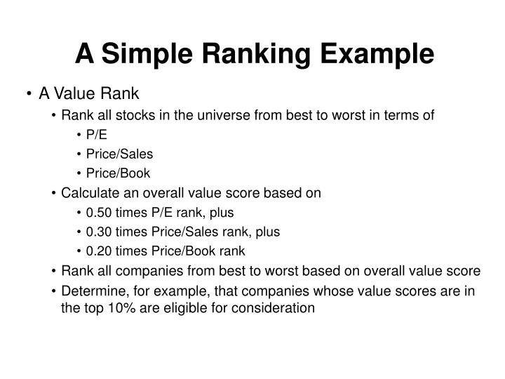 A Simple Ranking Example