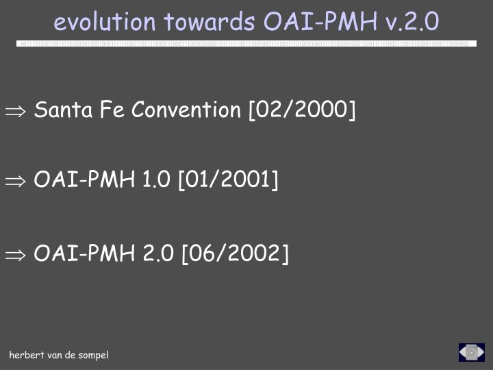 evolution towards OAI-PMH v.2.0