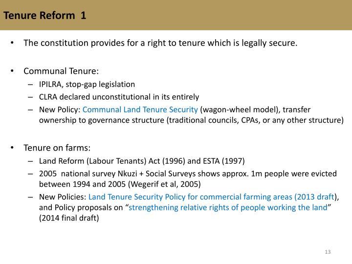 Tenure Reform  1