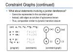 constraint graphs continued