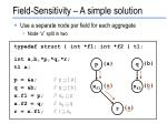 field sensitivity a simple solution1