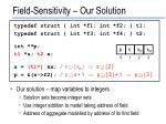 field sensitivity our solution2