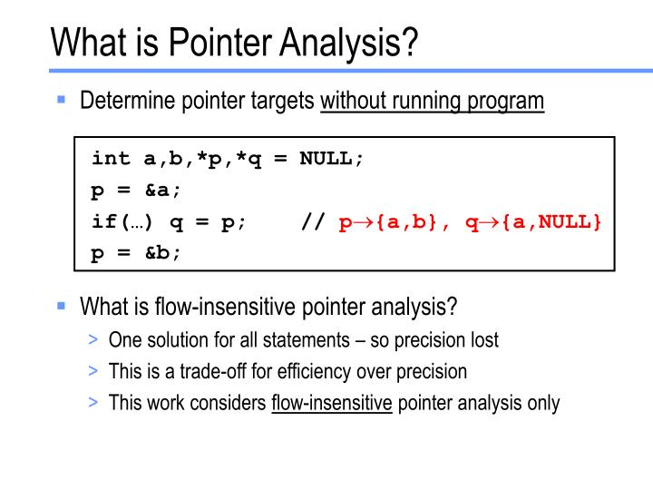 What is pointer analysis