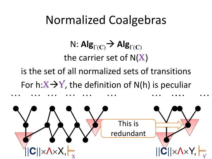 Normalized Coalgebras