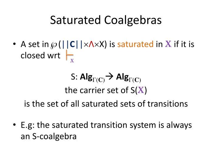 Saturated Coalgebras