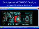 prototipo della pcb ddc quad rx utilizza un pin grid array da 144 pins