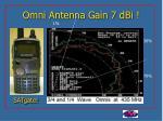 omni antenna gain 7 dbi