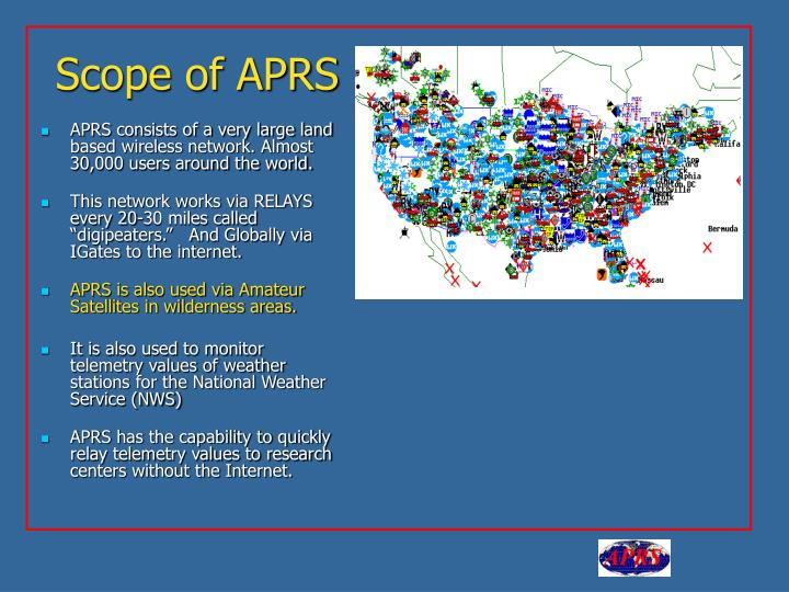 Scope of APRS