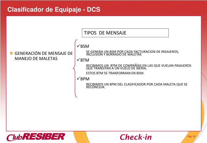 Clasificador de Equipaje - DCS