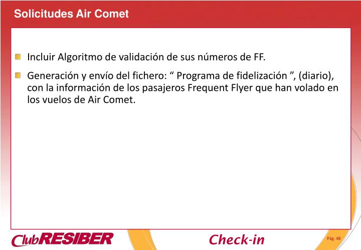 Solicitudes Air Comet