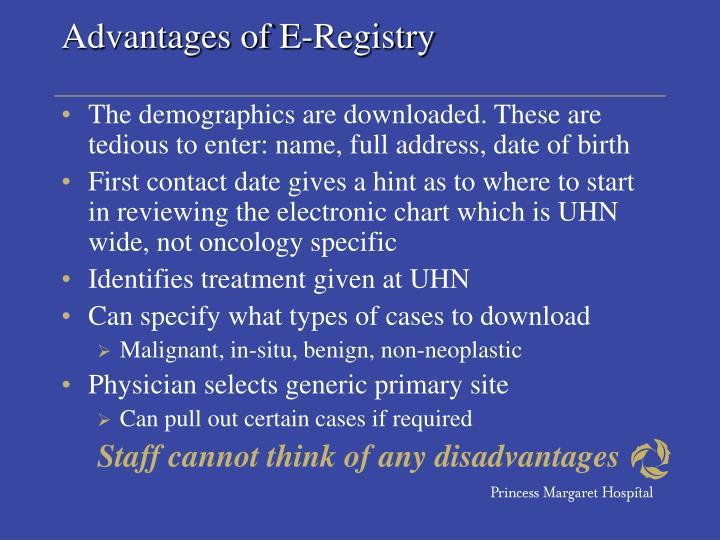 Advantages of E-Registry