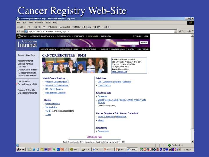 Cancer Registry Web-Site
