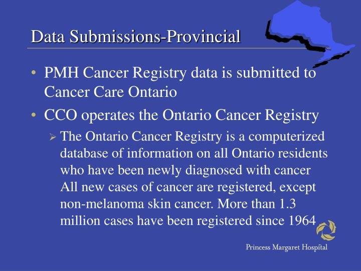 Data Submissions-Provincial
