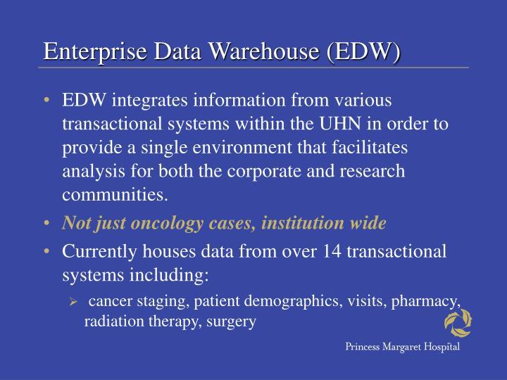 Enterprise Data Warehouse (EDW)