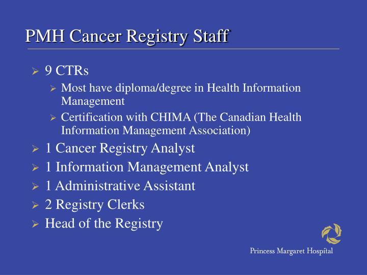 PMH Cancer Registry Staff