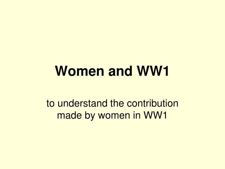 Women and WW1