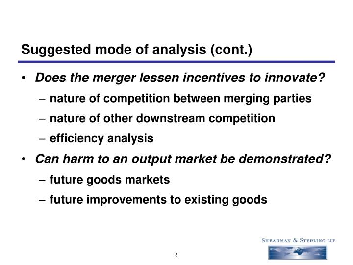 Suggested mode of analysis (cont.)