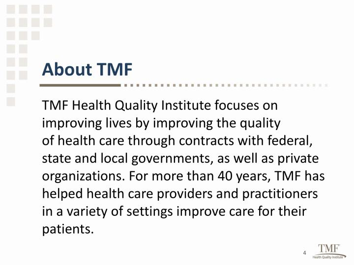 About TMF