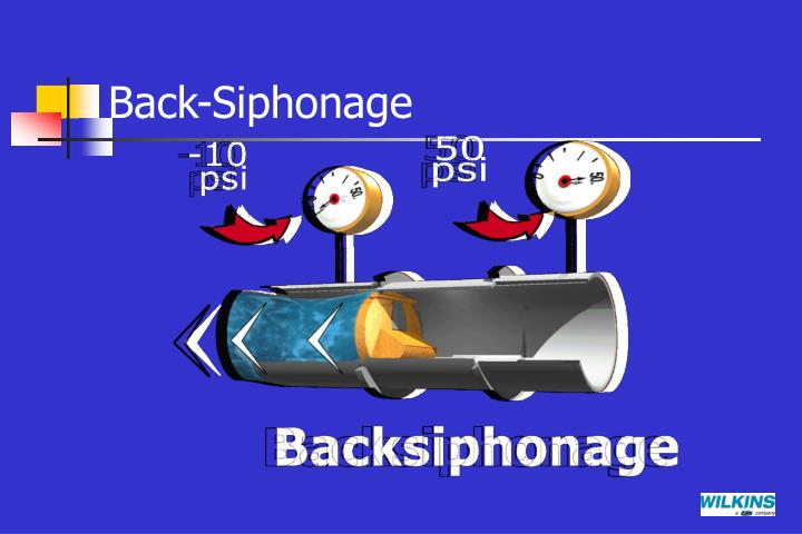 Back-Siphonage