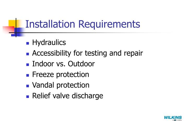 Installation Requirements