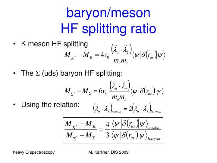 baryon/meson