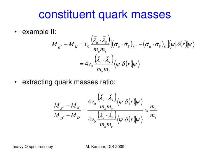 constituent quark masses