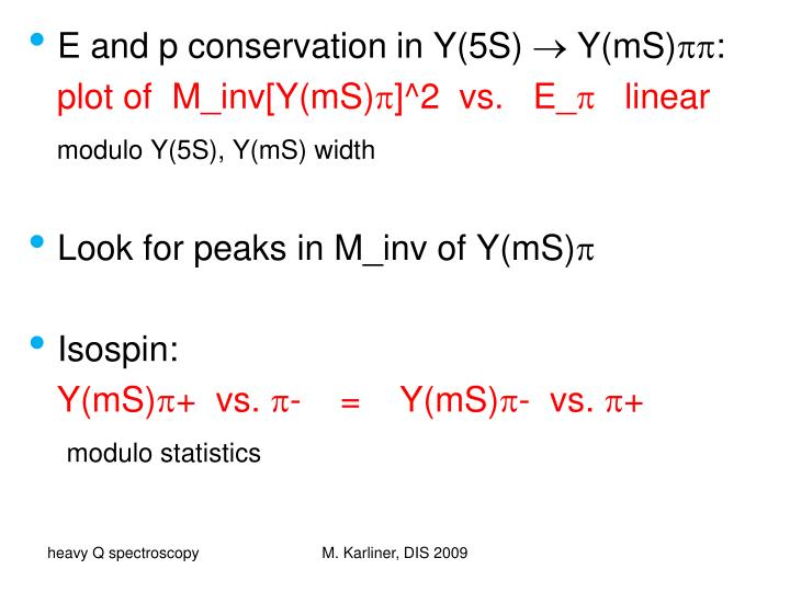 E and p conservation in Y(5S)