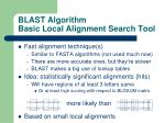 blast algorithm basic local alignment search tool