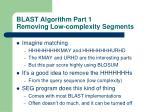 blast algorithm part 1 removing low complexity segments