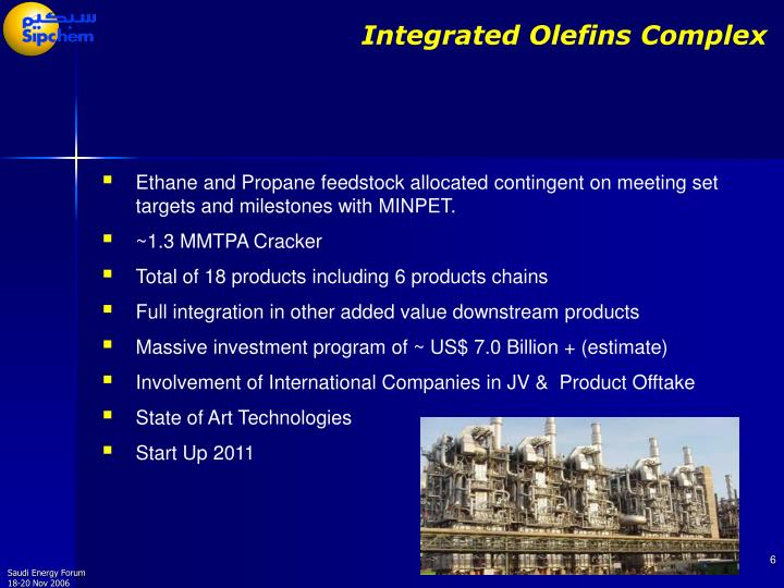 Integrated Olefins Complex