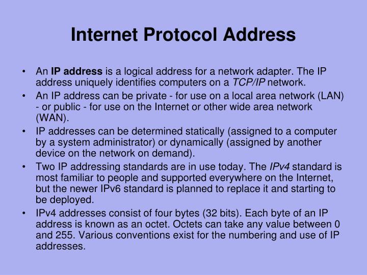 Internet Protocol Address