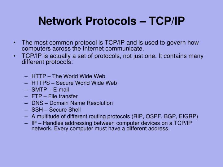 Network Protocols – TCP/IP