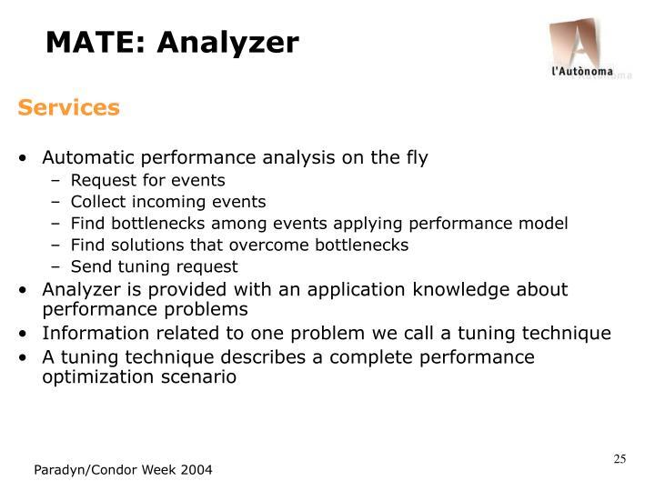 MATE: Analyzer