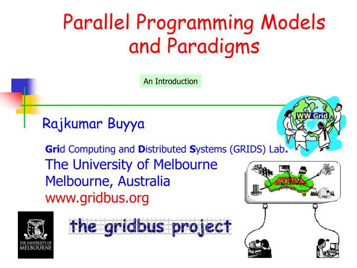 parallel programming models and paradigms