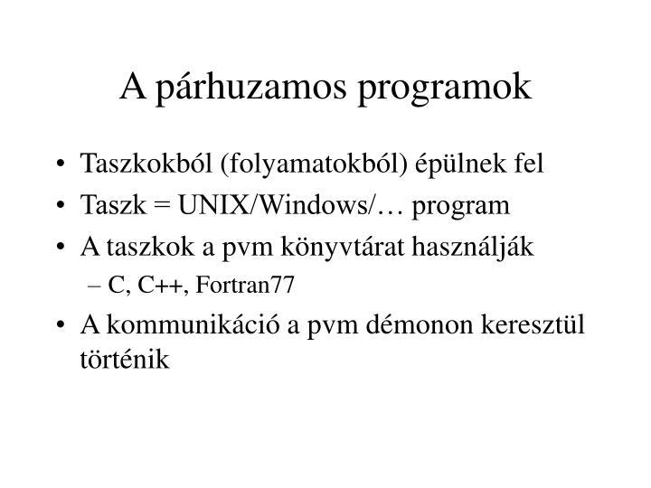 A párhuzamos programok