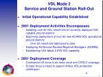 vdl mode 2 service and ground station roll out